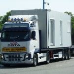 camion transportant le cottage